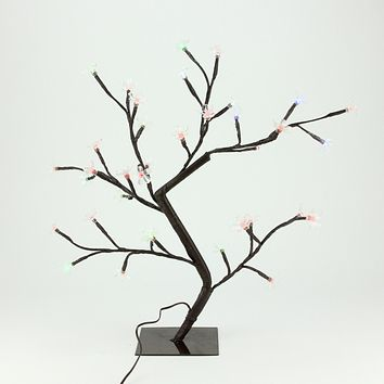 """20"""" LED Lighted Cherry Blossom Flower Tree - Multi-Color and Warm White Changing Lights"""