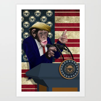 PRESIDENT of THE APES iPhone 4 4s 5 5c 6 7, pillow case, mugs and tshirt Art Print by Three Second