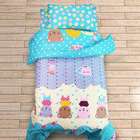 Newly 3PCs Nursery Bedding Set Baby Kids Cot Crib Bedding Set Toddler Boys Girls Cot Bedclothes Supplies Set