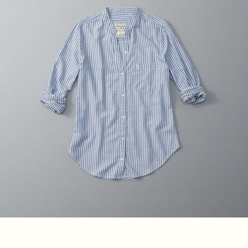 Mandarin Button-Up Shirt