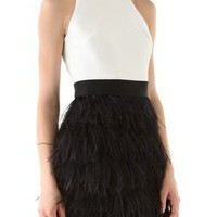 Milly Sasha Ostrich Feather Dress | SHOPBOP