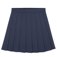 Pleated NavyBlue Mini Skirt