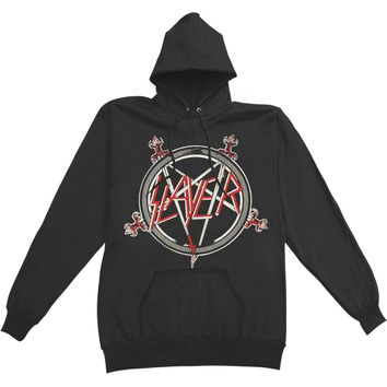 Slayer Men's  Pentagram Hooded Sweatshirt Black