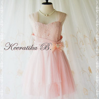 Fantastic Cocktail Night - Baby Pink Cocktail Tutu Cocktail Dress Scarf Hem Dress Party Prom Dress Wedding Bridesmaid Dress