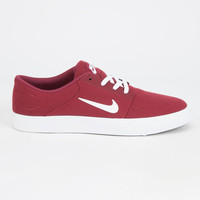 Nike Sb Portmore Canvas Mens Shoes Maroon  In Sizes