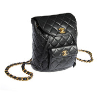 CHANEL Quilted Leather Lambskin Backpack