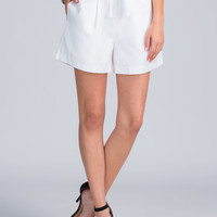 Ask Pretty Pleats Paperbag Shorts