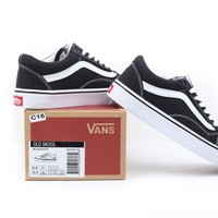VANS Classic Old Skool Low Black /  White Breathable sneaker Casual Shoes