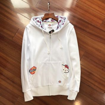 Dickies HelloKitty Women Fashion Hooded Cardigan Jacket Coat