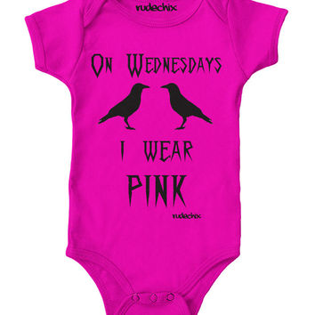 On Wednesday I Wear Pink Onesuit