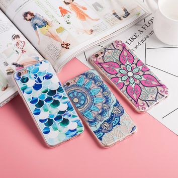 Napeyin Case For iPhone 6 6S 7 8 Plus 6Plus 5 5S SE Colorful Floral Paisley Flower Mandala Henna Silicone Soft Cover Fundas