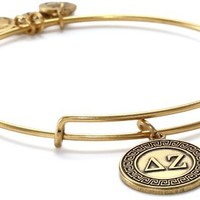 "Alex and Ani ""Sorority"" Delta Zeta Expandable Rafaelian Wire Bangle Bracelet"