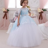 Blue Little Flower Girl Dresses