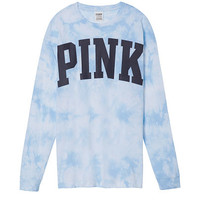 Washed Long Sleeve Campus Tee - PINK - Victoria's Secret