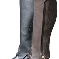 Saddles Tack Horse Supplies - ChickSaddlery.com Ladies Deluxe Full Grain Leather Half Chaps