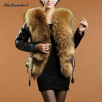 2016 Winter Women Outerwear Jackets Casacos Fake Fur Plus Size Vintage Artificial Faux Fox Femininos Luxury Fashion Mink Coat
