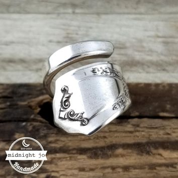 Jewell Wrapped Spoon Ring