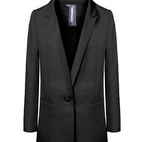 Pure Color Lapel Collar Blazers