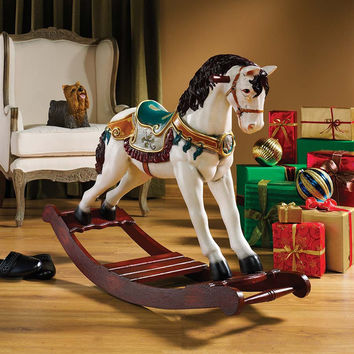 Park Avenue Collection Victorian Carousel Rocking Horse Statue