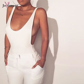 Sleeveless bandage one piece playsuit  jumpsuit back cut out Women's tight high waist Bodysuits Summer  Playsuits Jumpsuits new