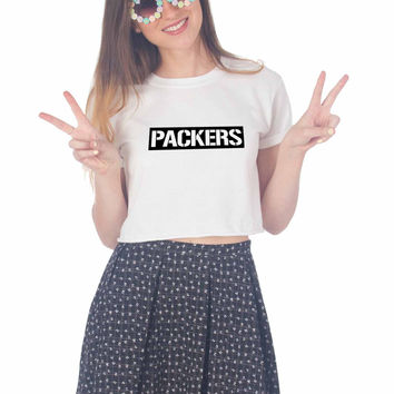 Green Bay Packers Design For Womens Crop Shirt **