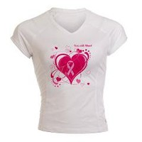 Run with Heart HOPE Performance Dry T-Shirt> BREAST CANCER AWARENESS> Chillin in Tha Ville