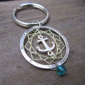 Anchor Dream Catcher Keychain