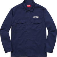 Supreme: Arc Logo Work Shirt - Navy