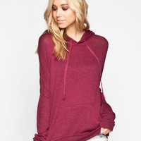 Full Tilt Essential Womens Heavenly Hoodie Burgundy  In Sizes
