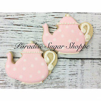 Teapot Decorated Cookies - 1 Dozen