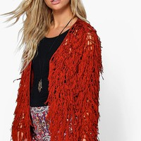 Olivia Lace Up Tassel Festival Cardigan