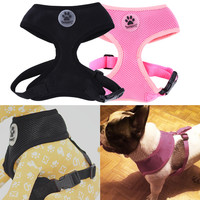 Soft Air Mesh Pet Harness Dog Clothes Pet Dog Cat Vest Breathable Harness Leash Dog Apparel Small Dog Harness Leash 2 Color