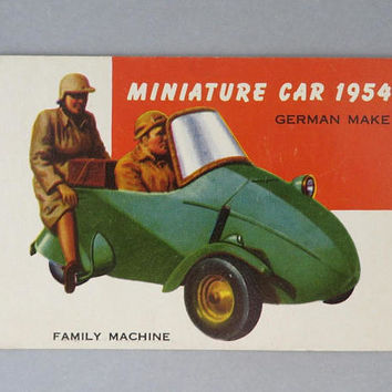 TOPPS World on Wheels Card #165, German Miniature Car 1954, Collectors Cards
