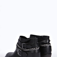 Victoria Multi strap Heeled Ankle Boots