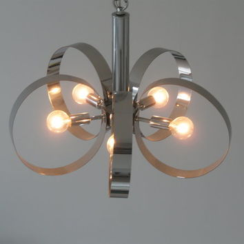 Mid Century Modern Chrome Chandelier