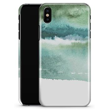Greenish Watercolor Strokes - iPhone X Clipit Case