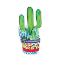 Cactus Succulent Sticker - Car Decal Laptop Decal Bumper Sticker Floral Potted Cactus Plant Yeti Tumbler Decal Watercolor Art Desert Plants