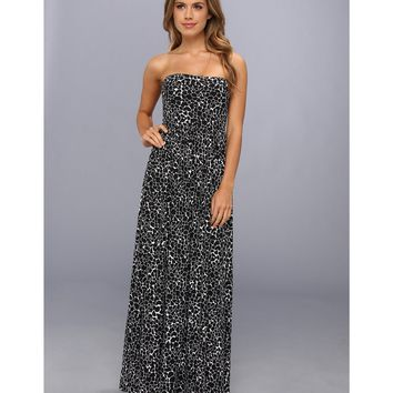 NEW Susana Monaco Strapless Maxi Dress in Black & White, Medium