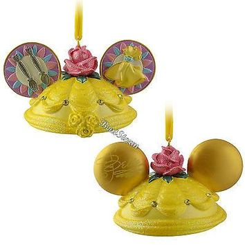 Licensed cool LE Beauty & the Beast Princess BELLE Ear Hat Christmas Ornament Disney Store NEW