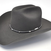 Stetson Angus 6X Fur Felt Hat-Granite Grey