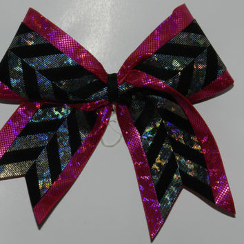 Texas Size Cheer Bow  3 inch base  Shocking by ABCBows on Etsy