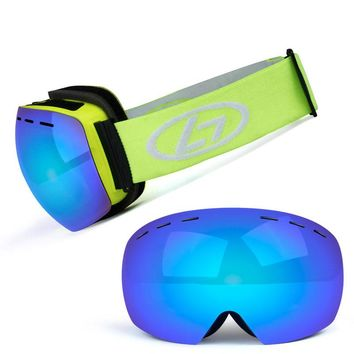 Ski Goggles Layer UV400 Anti-fog Big Ski Mask Glasses Sunglasses Skiing Men Women Snow Snowboard