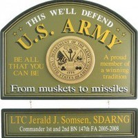 U.S. Army Sign Personalized