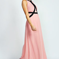 Evah Panelled Woven Maxi Dress