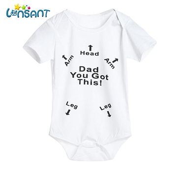 LONSANT 2018 Baby Boy Girl Cotton Romper Funny Baby Clothes Jumpsuit Pasgeboren Baby Kleding Unisex Kids Clothing Dropshipping