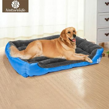 Pet Dog Bed Warming Dog House Soft Material Nest Dog Baskets Fall and Winter Warm Kennel For Cat Puppy Plus size ping