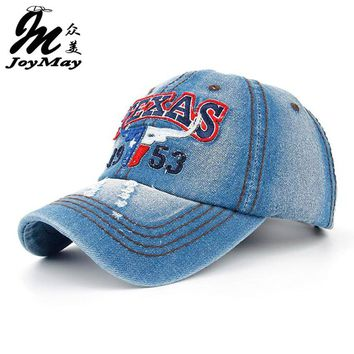 Joymay 2015 New Texas Bull Summer Baseball Caps for Men Snapback Caps Women Casual Outdoor Sport Adjustable Letters Hats B259