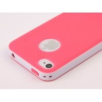 Pandamimi Dexule Rose Red White Fashion Sweety Girls TPU , PC 2-Piece Style Hard Case Cover for iPhone 4 4S with Screen Protector: Cell Phones & Accessories