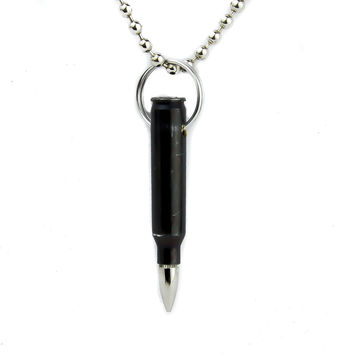 Black Bullet Necklace 0.223 Mm Artillery Jewelry