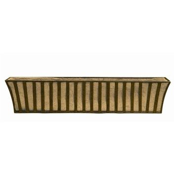 SheilaShrubs.com: Solera Large Window Box with Coco Liner WB125 by Deer Park Ironworks: Planters